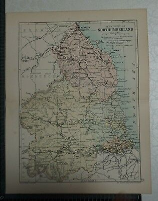 c 1890 - Map - The County of Northumberland
