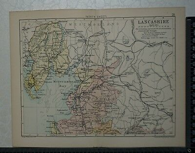 c 1890 - Map - The County of Lancashire - North Sheet