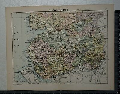 c 1890 - Map - The County of Lancashire - South Sheet