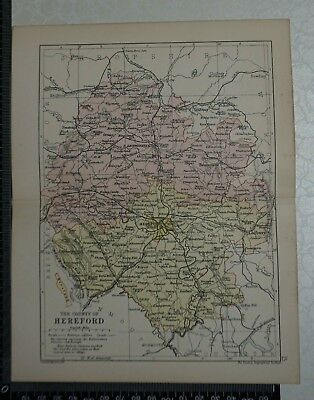 c 1890 - Map - The County of Herefordshire