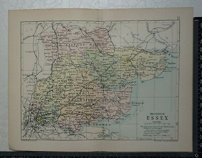 c 1890 - Map - The County of Essex
