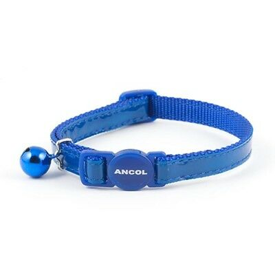 Ancol Gloss Reflective Safety Release Buckle Cat Collar (blue and silver)