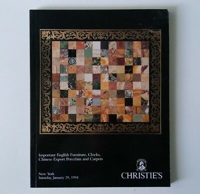 Christie's Auction Catalog - Important English Furniture Clocks Etc - 1994