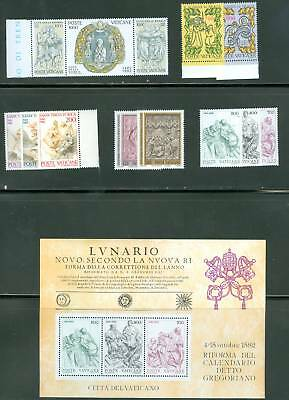 Vatican City 1982 Compete MNH Year Set