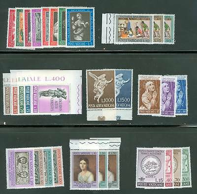 Vatican City 1962 Compete MNH Year Set