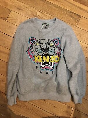 21fadd0c KENZO GREY SWEATSHIRT Tiger Size S Womens Immaculate Condition
