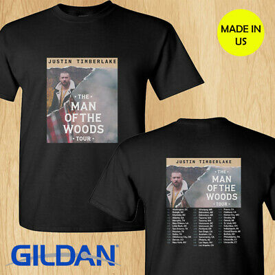 Justin Timberlake the Man of the Woods tour concert 2019 black tee shirt S-2XL