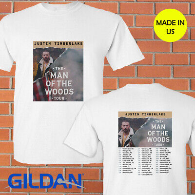 Justin Timberlake the Man of the Woods tour concert 2019 white tee shirt S-2XL