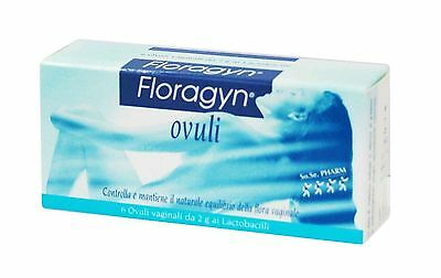 Floragyn Ovuli *6 x 2 gr. restores the physiological PH,soothes repairs