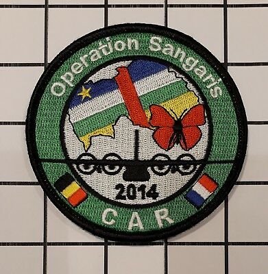 BELGIAN-FRENCH AIR FORCE squadron patch Operation Sangaris C-130 on vlcr