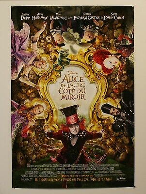 """Alice Through The Looking Glass - Unfolded Original French Movie Poster 27X40"""""""