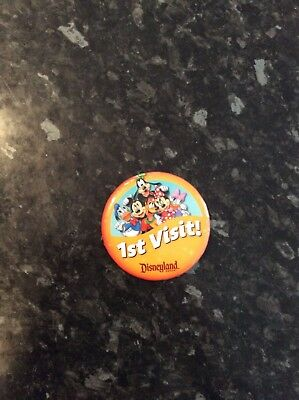 Large Original Disneyland California Pin Badge 2018 Ist Visit To Disneyland Pin