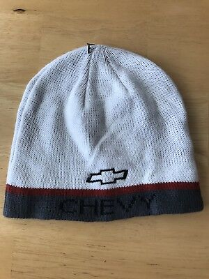 b15dcc229ba Chevy Truck Car Racing Hat Cap Knit Beanie Cold Weather New Snow Chevrolet
