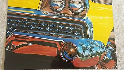 Vintage poster by REYNOLDS high quality glossy paper Buick Convertible 1958 cab