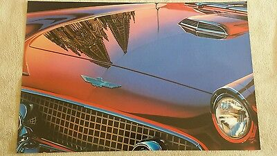 Vintage poster by REYNOLDS high quality glossy paper NOS Ford Thunderbird 1955