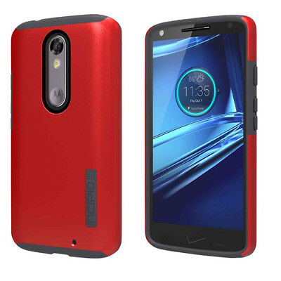 NEW Genuine Incipio DualPro Protective Case For Motorola DROID TURBO 2 RED/BLACK