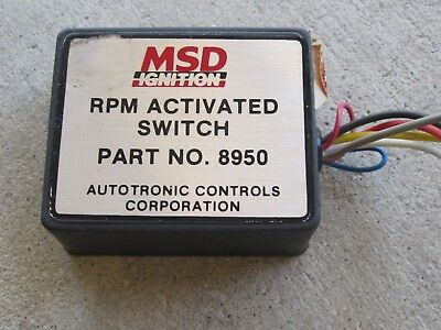 MSD RPM Switch 8950 dragster drag boat