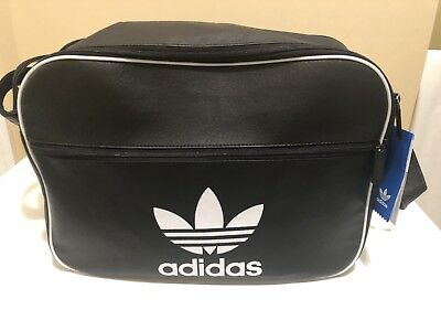 2c18d1d99c Adidas AIRLINER School Messenger Vintage Style Airliner Bag Black Has Tags