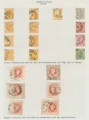 Austria Hungary Bosnia Stamps 1867-1900 Excellent Cancels, Js Craig Collection