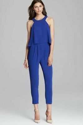 18004b42c1bb TRINA TURK BLUE JUMPSUIT Originally  298 Size 8  129 -  129.00 ...