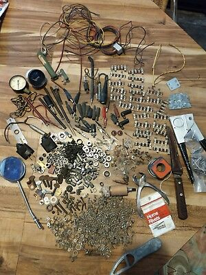 9 lbs Lot Misc hardware for Antique Vintage Radio, TV, Test Equipment, Screws