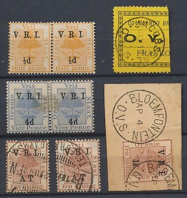 Ofs Stamps 1899 1900 Army Telegraphs, Vri Variety Pairs Boer War Military Frank