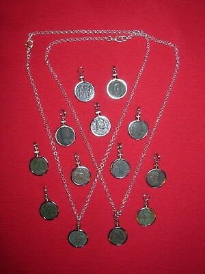 Ancient Christian Coin Necklace Pendant Jewelry Original Ancient Roman Coin