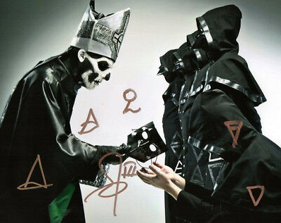 Ghost Band Group Signed Photo 8X10 Rp Autographed Ghost Bc Papa Emeritus Ii