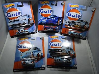 Hot Wheels Car Culture GULF Set of 5 (Real Riders) Complete with GOLF MOMC