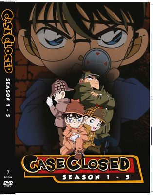 CASE CLOSED - Detective Conan (Season 1 2 3 4 5) ~ 7-DVD SET