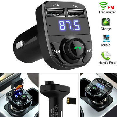 Bluetooth Car USB Charger FM Transmitter Radio Adapter MP3 Player Quick  NRP