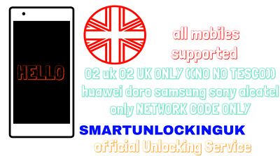 O2 UK Unlock code Moto C E E3 E4 E5 G G3 G4 G5 G6 Z2 XT Please read description