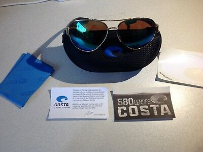 df10af3a4ef Costa Del Mar South Point Sunglasses Polarized 580P Gold Frame Green Mirror  Lens