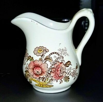 Antique Transferware CHARLOTTE Royal Crownford Staffordshire Cranberry Creamer