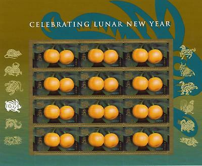 2011 US #4492 Lunar New Year of the Rabbit Full Sheet of 12 Forever Stamps MNH
