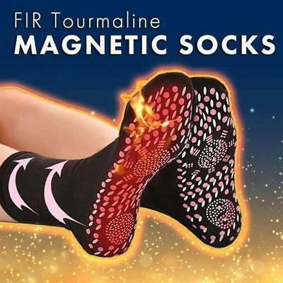 Magnetic Socks Self Heating Tourmaline Therapy Foot Pain Relief Unisex Socks