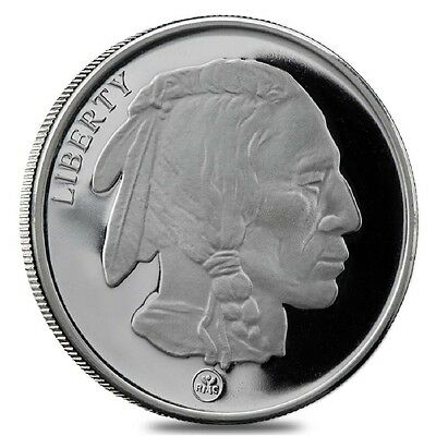 """Buffalo / Indian"" (RMC) 1 oz. .999 Fine SILVER Round"