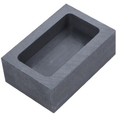 Pure Graphite Crucible Ingot Mold Oven Fusion Cast Melting Gold Silver Plat H3V5