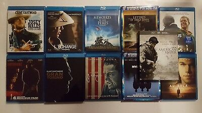 Lot Blu-ray : 11 Films de Clint EASTWOOD dont IMPITOYABLE, AMERICAN SNIPER, ...
