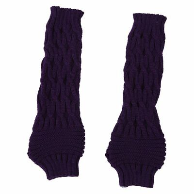 Gloves Braided Knitted Oversleeve Hand Arm more Fingerless Gloves (Purple) A3N4