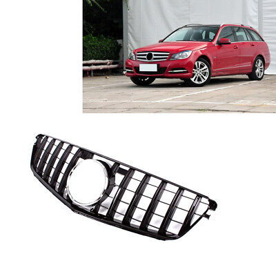 GT R Style Front Grill Grille For Benz C Class W204 C200 C250 C350 07-13 Black