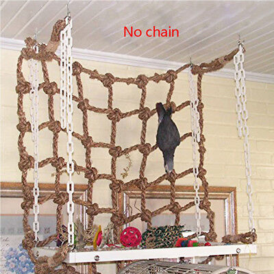 Pet Parrot Bird Climbing Net Cage Toy Swing Hanging Rope Macaw Play Gym