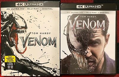 Marvel Venom 4K Ultra Hd Blu Ray 2 Disc Set + Slipcover Sleeve Free World Shippi