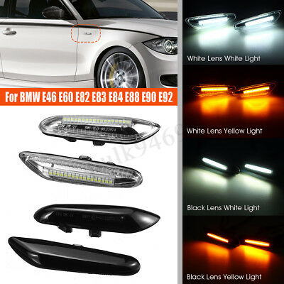 2X Side Marker Repeater Indicator LED Lights For BMW E46 E60 E82 E88 E90 E92 AU