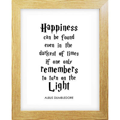 Typography Print A4 Albus Dumbledore Quote Harry Potter Decor Inspiration Quirky