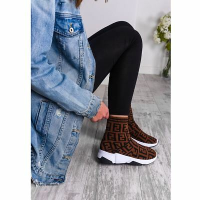 Womens Ladies Sock Sneakers Trainers Speed Knit Runners Bali Stretch Pumps New