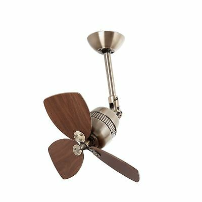 Faro Vedra - Small Ceiling Fan Without Light Antique Brass, Walnut - 33450