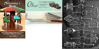 (+50 Stx/Bags/Bk) - Cybrtrayd Jewish Lolly Chocolate Candy Mould with