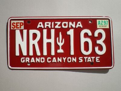 Authentic 1997 Arizona License Plate