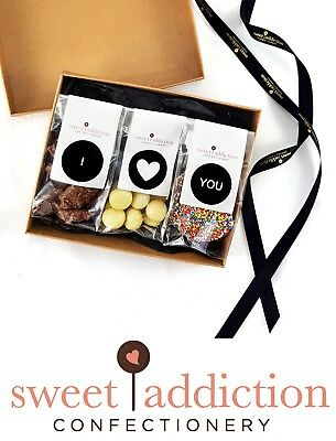 Sweet Addiction Premium Chocolate Valentine's Day Gift Hamper Box - I Love You